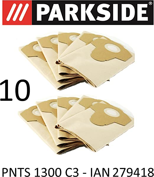10 bolsas de aspiradora Parkside 20 L pnts 1300 C3 Lidl Ian 279418 ...