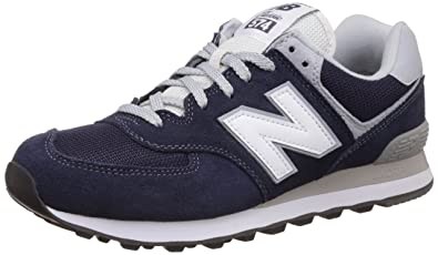New Balance Men's ML574 Core Plus Fashion Sneaker, Descent/White, 13.5 UK/