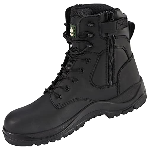 Rock Fall Melanite rf333 Impermeable Wide Fit Zip Up Botas de Seguridad de no metálico,