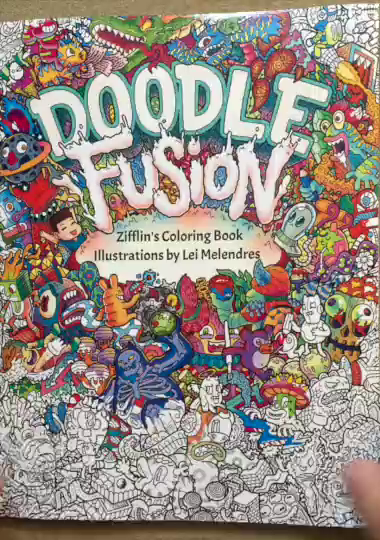 Doodle Fusion Is A Really Interesting Coloring Book It Based On The Line Artwork Of Artist Lei Melendres Zifflins Color Books Seem To Be
