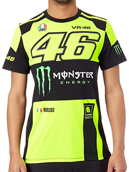 1b83fc6f4f3d Valentino Rossi VR46 Moto GP Monster Energy T-shirt Official 2018:  Amazon.co.uk: Clothing