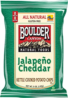 product image for Boulder Canyon Kettle Chips, Jalapeno Cheddar, 5-Ounce Bags (Pack of 12)
