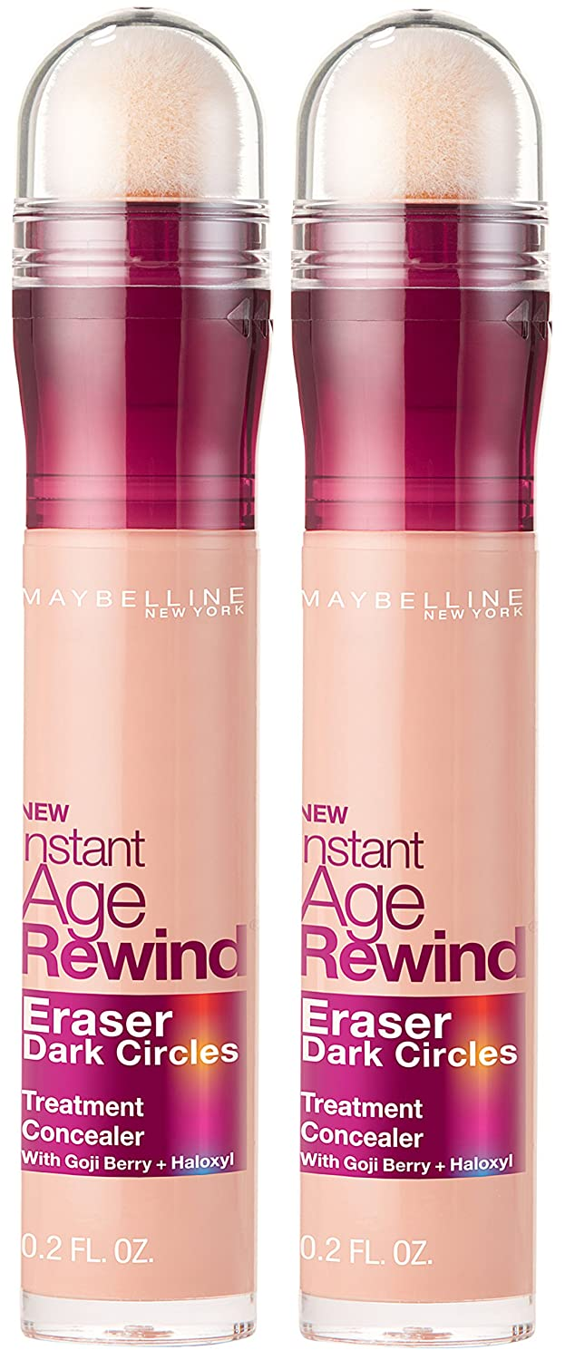 Maybelline Instant Age Rewind Eraser Dark Circles Treatment Concealer, Brightener, 2 COUNT