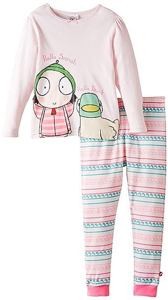 Sarah & Duck Hello Sarah and Duck Pyjamas - Pijama para niñas, Color Rosa -