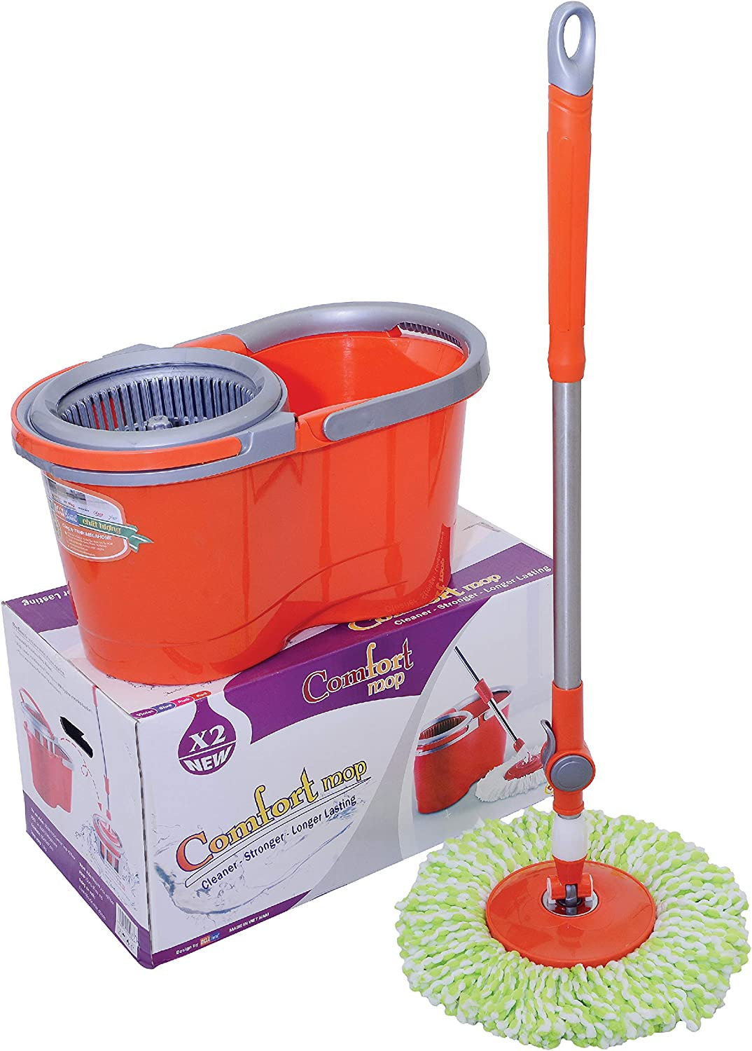 Amazon.com Megahome Spin Mop and Bucket Floor Cleaning, Comfort ...