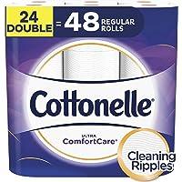 Cottonelle Ultra ComfortCare Toilet Paper, Soft Biodegradable Bath Tissue, Septic-Safe, 24 Double Rolls