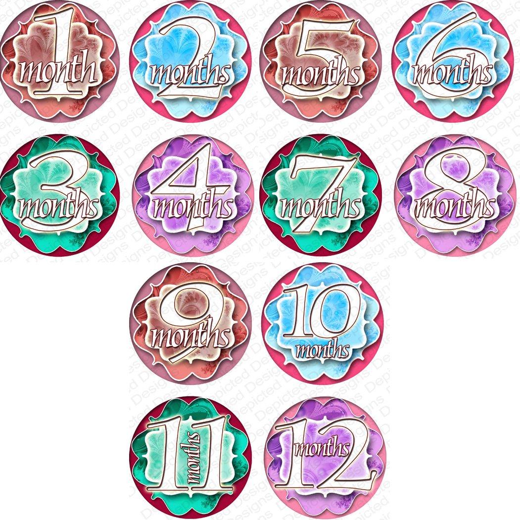 Amazoncom Twister Baby Month Onesie Stickers Baby Shower Gift