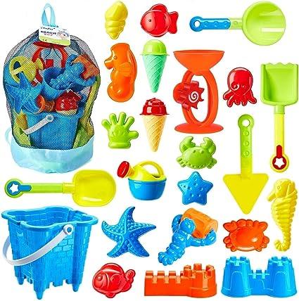 Summer Beach Toy Set Outdoor Beach Sand Toys Set Sand Pit Toys Water Beach Toys for Children Boys and Girls Summer Beach Shovels Rakes Tool Kit Childrens Beach Sand Shovel Tool Kits