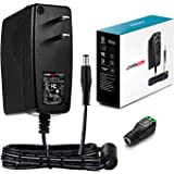 [UL Listed] Chanzon 12V 2A 24W AC DC Switching Power Supply Adapter (Input 100-240V, Output 12 Volt 2 Amp) Wall Wart Transfor