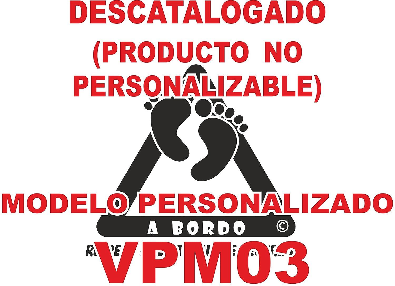 Adhesivo personalizado Bebé a bordo VPC03. DISEÑO EXCLUSIVO. VENDIDO Y ENVIADO POR VPM ORIGINAL. PRODUCTO Y EMPRESA 100% DE ESPAÑA. NO COMPRES ...