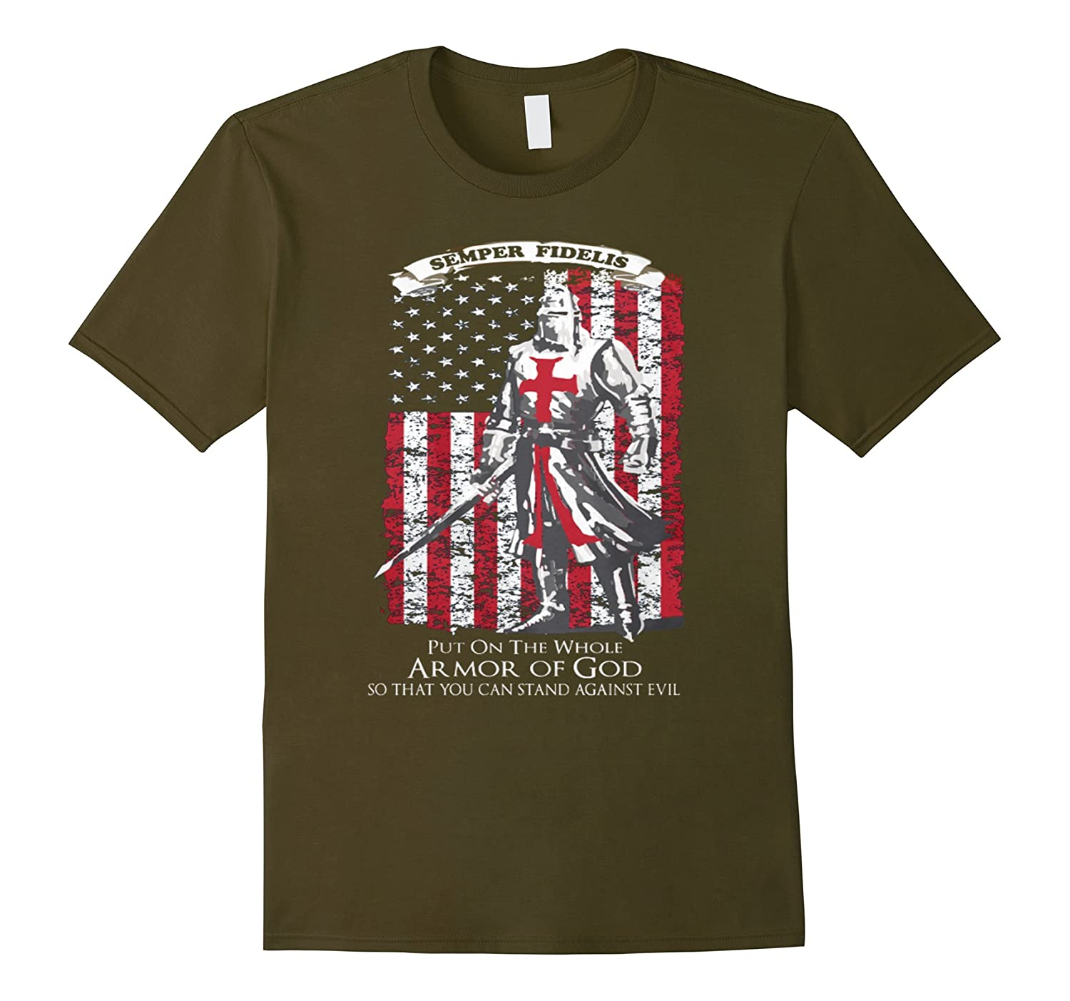 The Crusader - Stand Against Evil T Shirt-TD