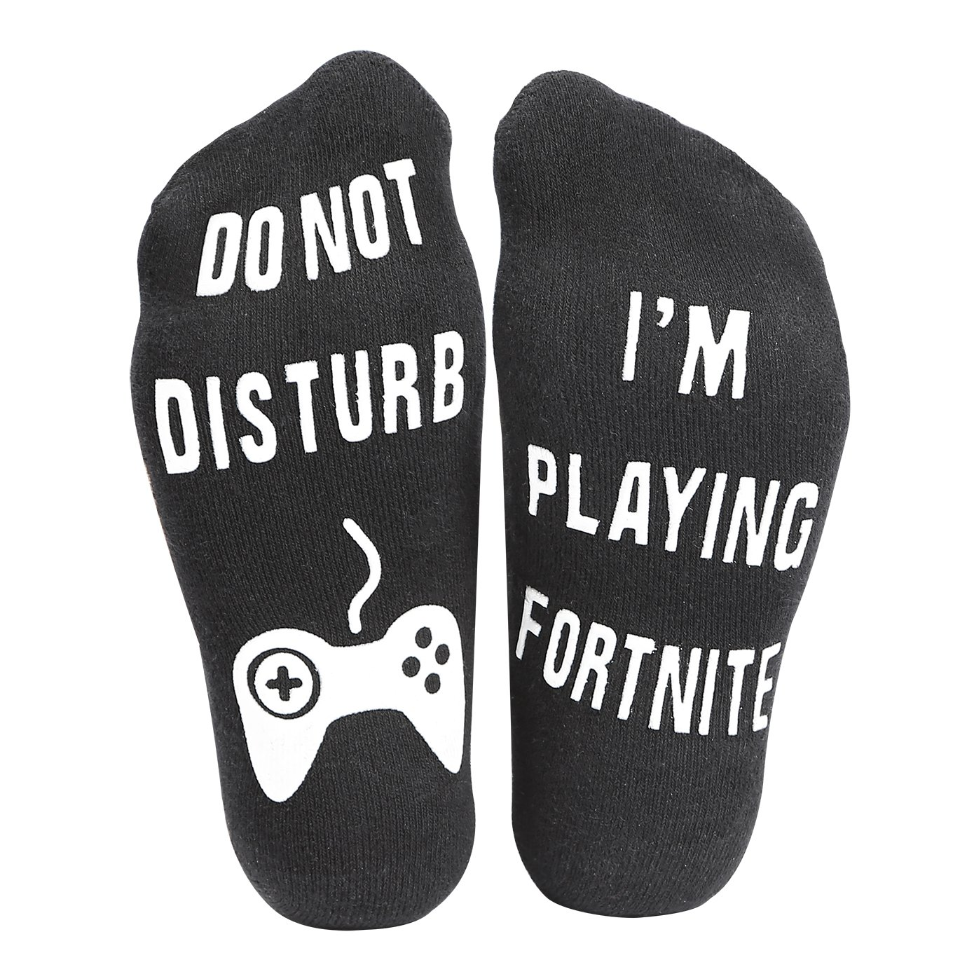 AngelLoverMVPstore Funny Ankle Cotton Socks –Do Not Disturb, I'm Playing Fortnite, Great Gift for Game Players and Fortnite Lovers (1 Pair, Black) I' m Playing Fortnite Angel Lover