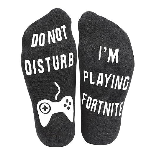 Amazon Com Do Not Disturb I M Playing Fortnite Funny Ankle Socks