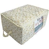 Kuber Industries Metalic Print Non woven Under Bed Storage Bag, Brown (CTKTC2720)
