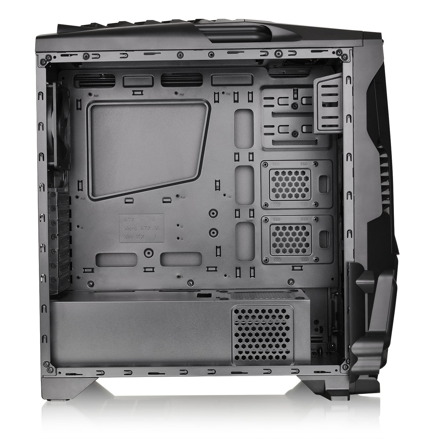 Thermaltake Versa N24 Black ATX Mid Tower Gaming Computer Case Chassis with Power Supply Cover, 120mm Rear Fan preinstalled. CA-1G1-00M1WN-00 by Thermaltake (Image #5)