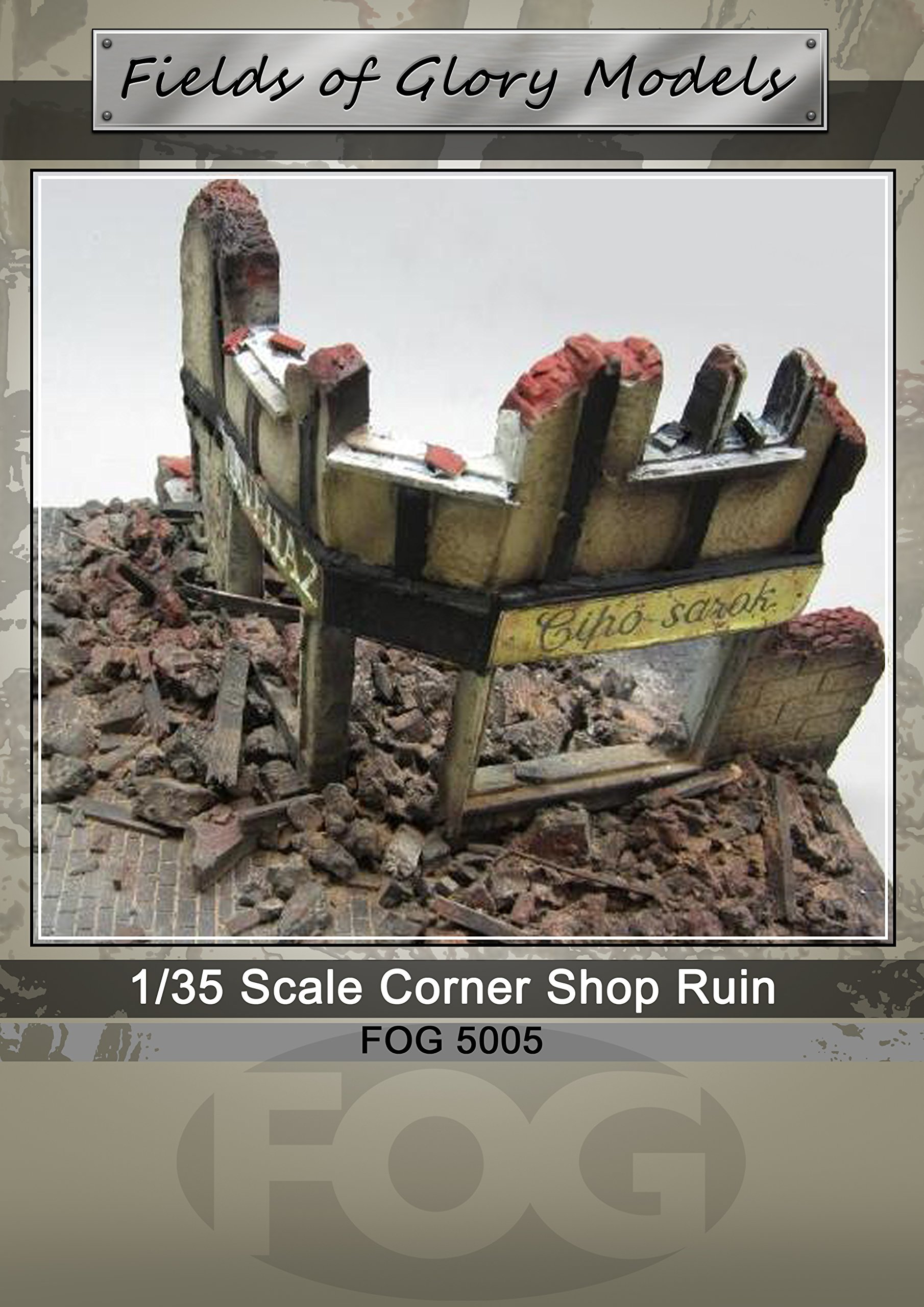 1/35 Scale - WW2 Ruined Shop Front Diorama - Military model kit … by FoG Models (Image #1)