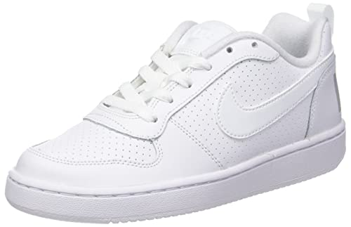 outlet store cb671 185e7 Nike Court Borough Low (Gs), Scarpe da Basket Bambino, Bianco (White