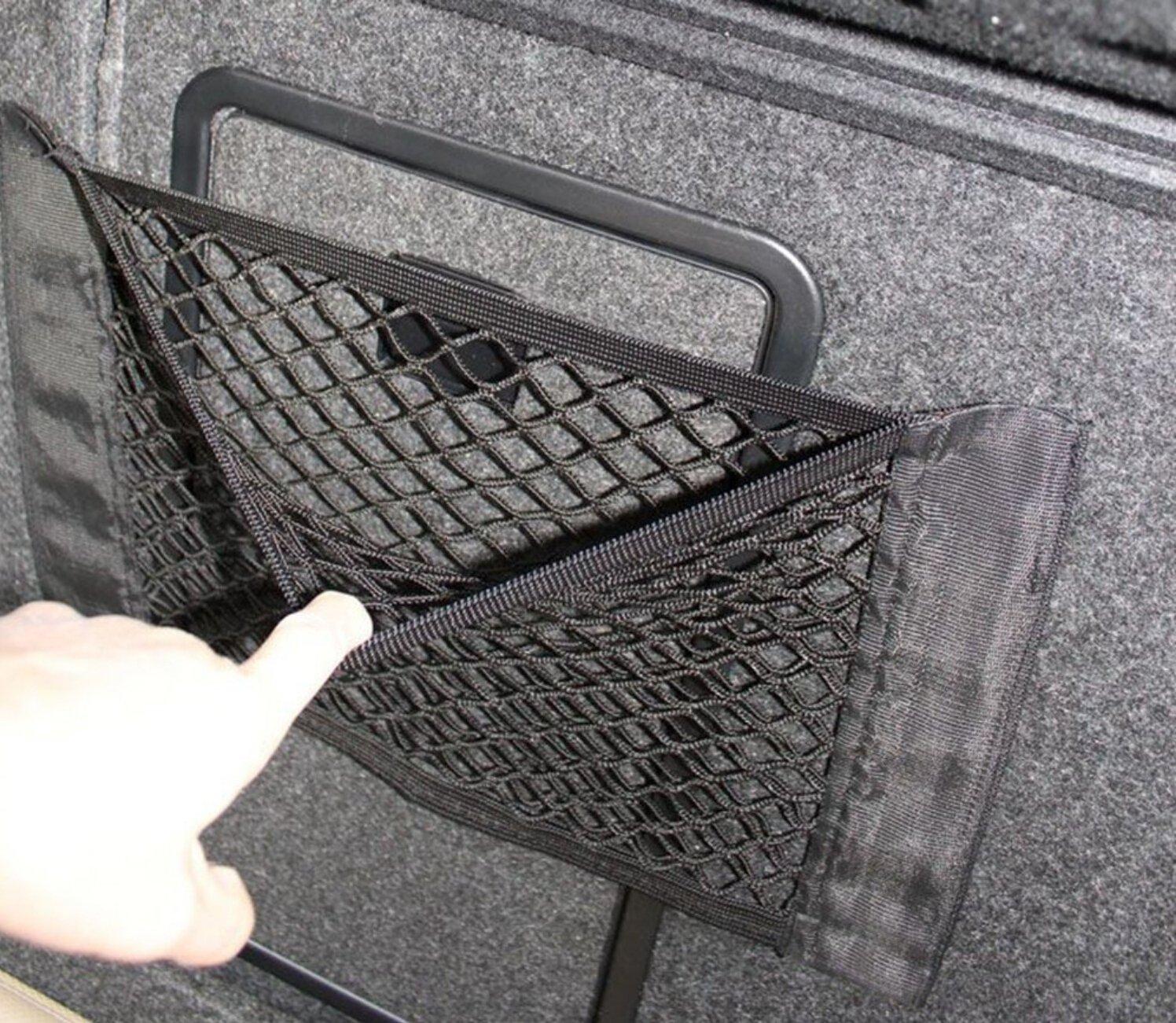 MOON Cargo Net 9 auto-adesivo per bagagli rete Oganizer-doppio strato, con tasca, adesivo, confezione da 1 9 MOON