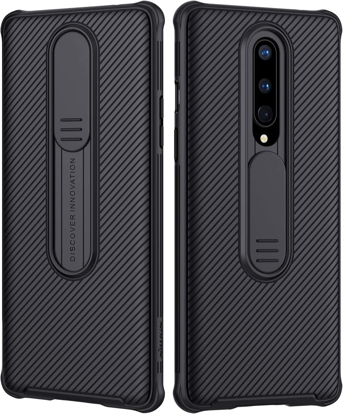 Nillkin Oneplus 8 Case, CamShield Pro Series Case with Slide Camera Cover, Slim Stylish Protective case for Oneplus 8 - Black