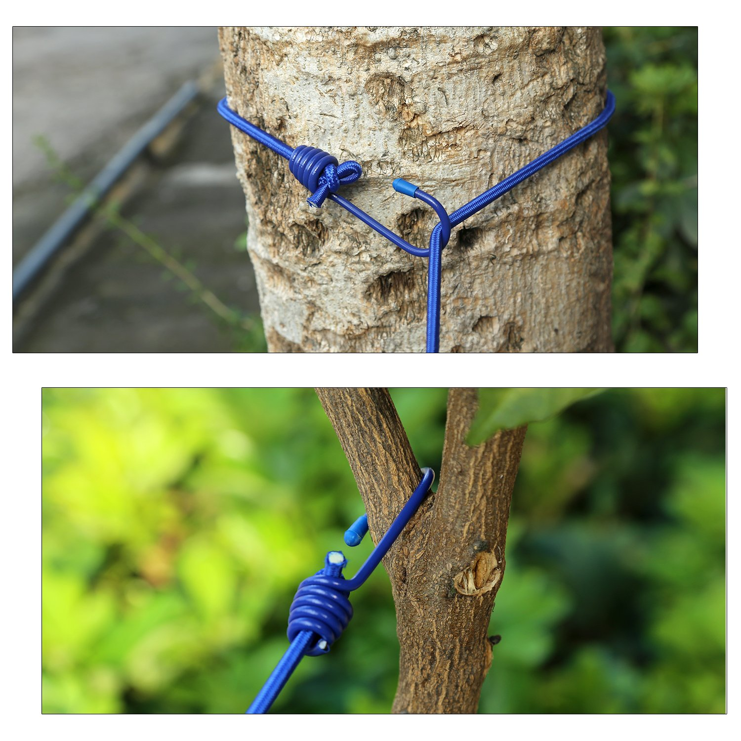 WAAO Portable Travel Clothesline Adjustable Elastic Travel Camping Windproof Clothesline with 12pcs Clips for Outdoor and Indoor Use (dark blue)
