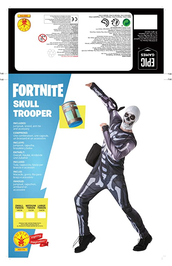 Fortnite-300194-Tw Disfraz Skull Trooper, Multicolor (Rubies 300194-TW): Amazon.es: Juguetes y juegos