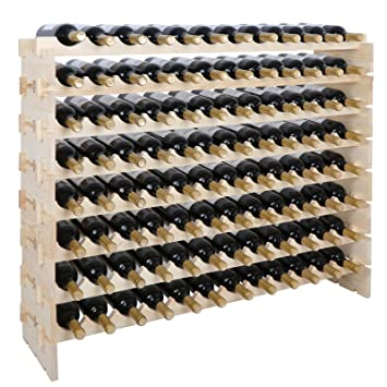 Amazoncom Smartxchoices 96 Bottle Stackable Modular Wine Rack