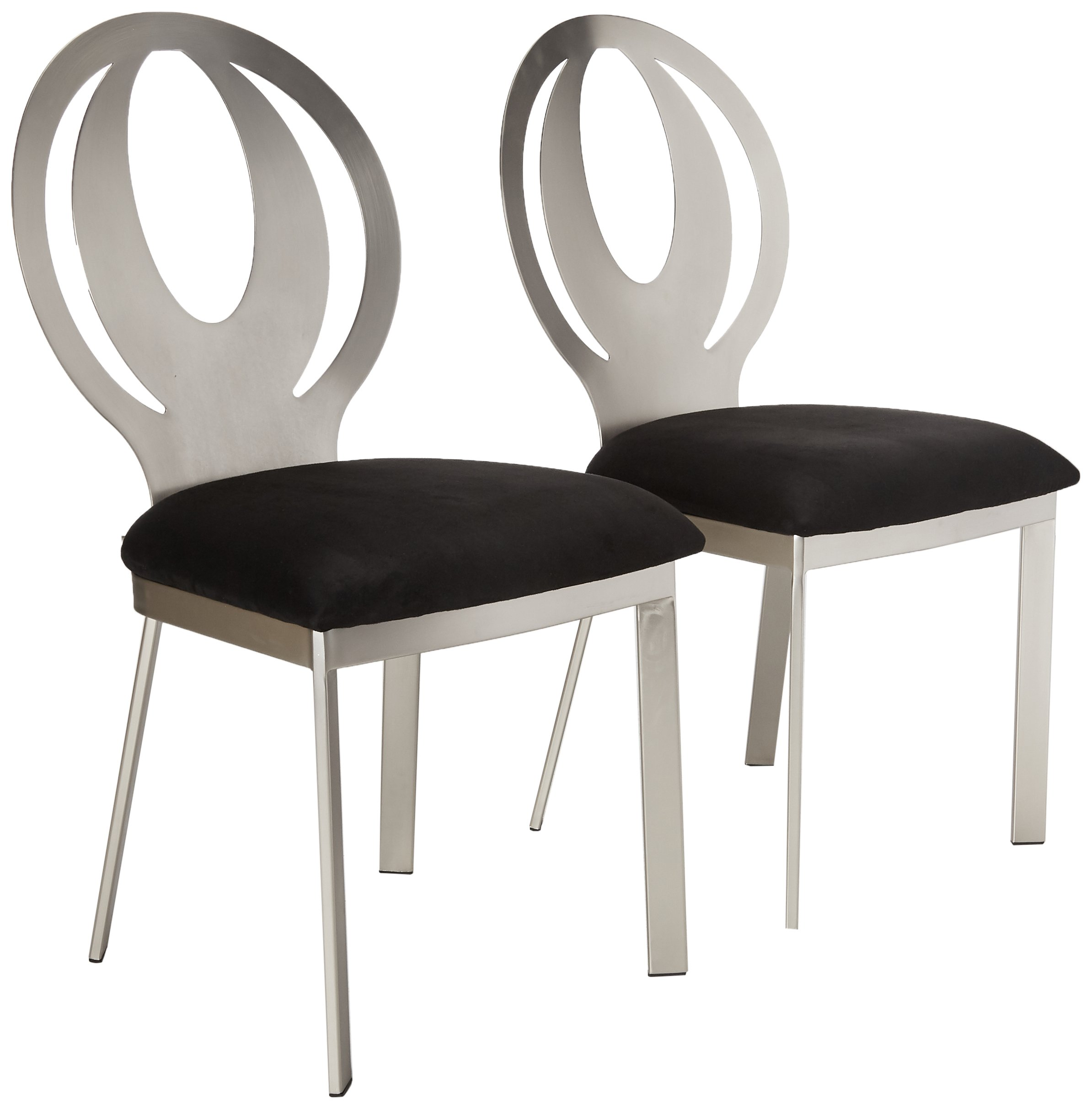 247SHOPATHOME IDF-3726SC Dining-Chairs, Satin