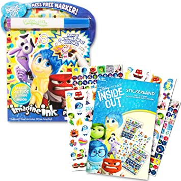 Amazon Com Disney Pixar Inside Out Stickers And No Mess Coloring
