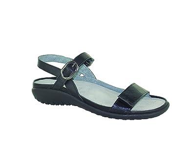 cca5224ef076 Naot Footwear Women s Mozota Black Raven Leather Black Luster Leather Sandal  36 (US Women s