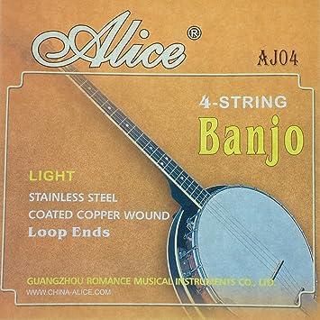 Stahlsaiten Saiten Banjosaiten für Banjo 4 saitig