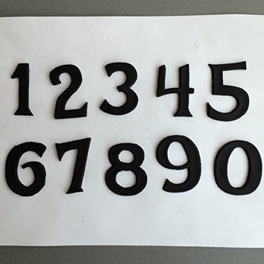 Frosted Font Number Cookie Cutter Set