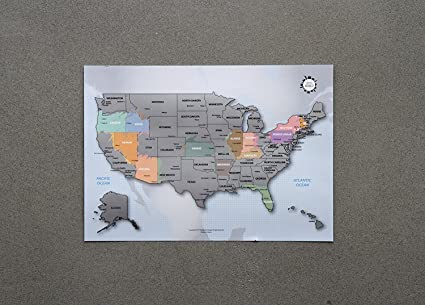 Amazon.com: Personalized Scratch-off Us Map the United States of ...
