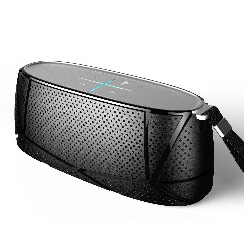 Meidong MD-05 Altavoz Bluetooth Estéreos Premium 15W con HD Audio, Bluetooth 4.0, Llamadas Manos Libres y TF Ranura de La Tarjeta - Negro