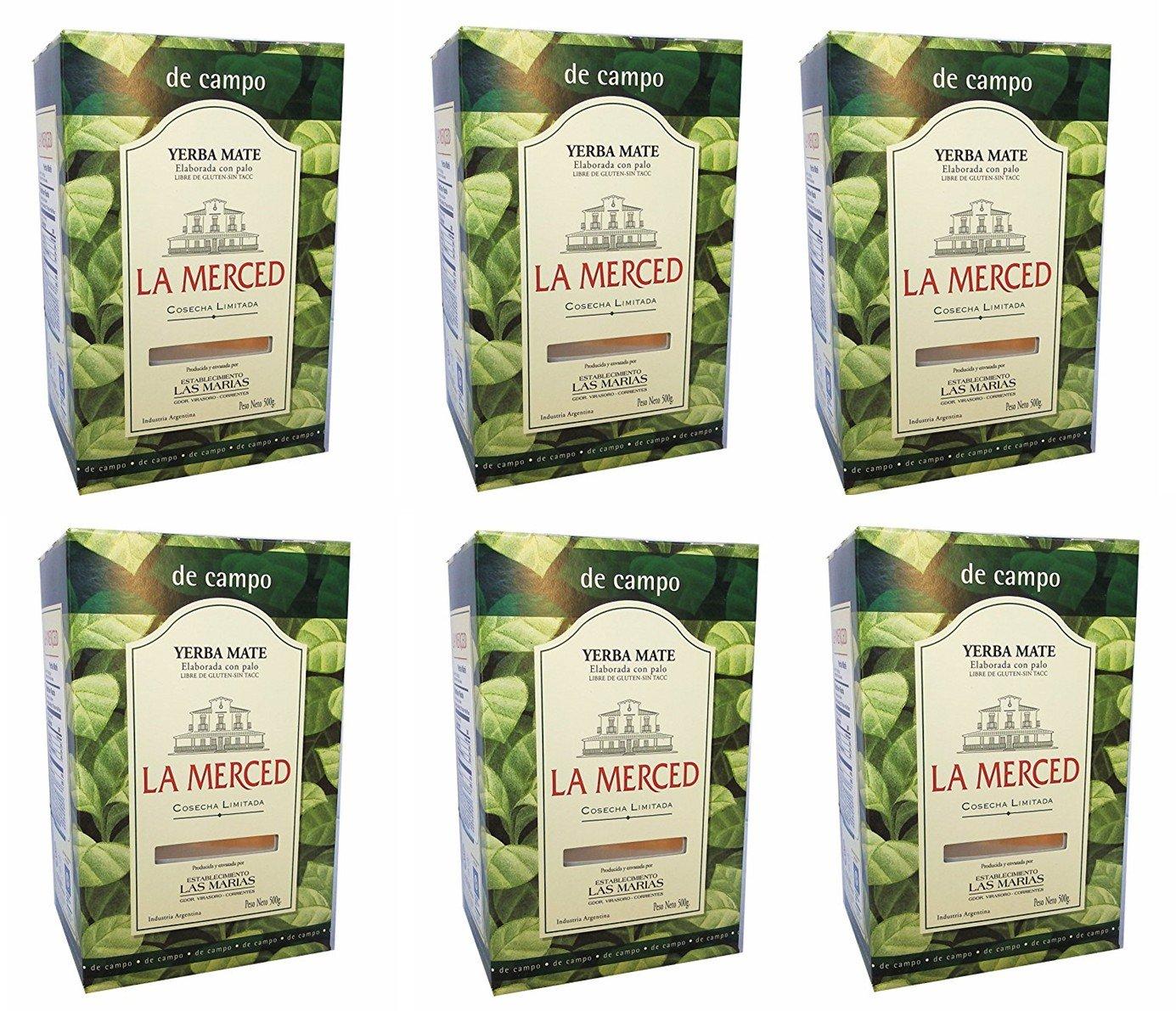 La Merced De Campo Yerba Mate 500 g (1.1 lbs) 6 Pack by La Merced (Image #1)