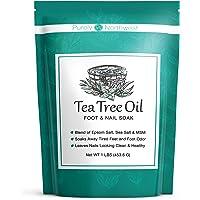 Tea Tree Oil Foot Soak With Epsom Salt, Helps Treat Nail Fungus , Athletes Foot & Stubborn Foot Odor 16oz by Purely…