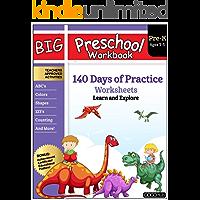 Big Preschool Workbook: Ages 2-5, 140+ Worksheets of PreK Learning Activities, Fun Homeschool Curriculum, Help Pre K…