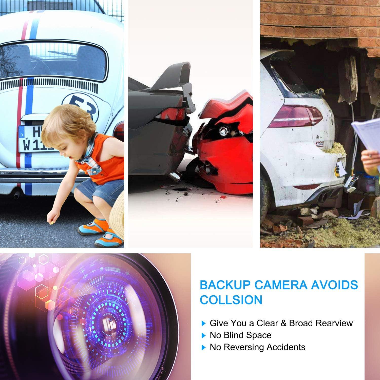 Noir Cam/éra de Recul pour Stationnement V/éhicule R/étroviseur Cam/éra /Étanche IPX68 Universelle 170 Degr/és Angle de Vue Anti-poussi/ère Cam/éra HD Vision Nocturne