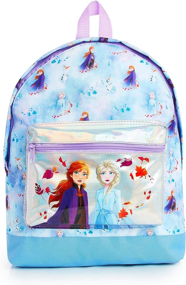 Disney Frozen 2 Mochila Escolar Infantil Para Niñas Adolescentes, Princesas Disney Anna Elsa, Mochilas Escolares Juveniles Bolsillo Delantero Confeti Brillante, Regalos Para Niños Colegio Viaje: Amazon.es: Ropa y accesorios