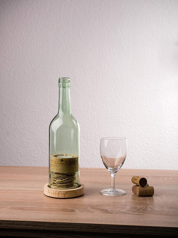Wein Windlicht,Flox