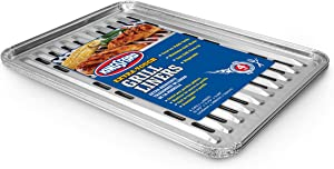 Kingsford Extra Tough Aluminum Grill Liners | Heavy Duty Grill Liners | Disposable Grilling Liners Prevent Food From Falling Through Grill Grates, 4 Count