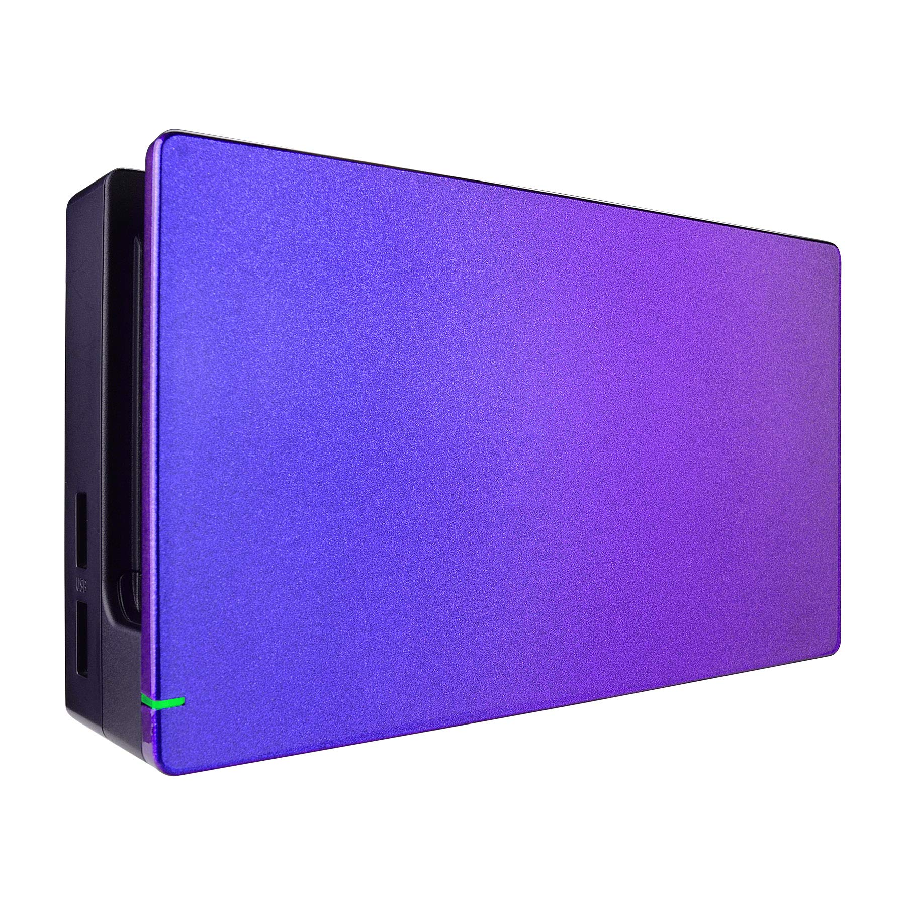 eXtremeRate Custom Chameleon Glossy Faceplate for Nintendo Switch Dock, Purple Blue DIY Replacement Housing Shell for Nintendo Switch Dock - Dock NOT Included by eXtremeRate
