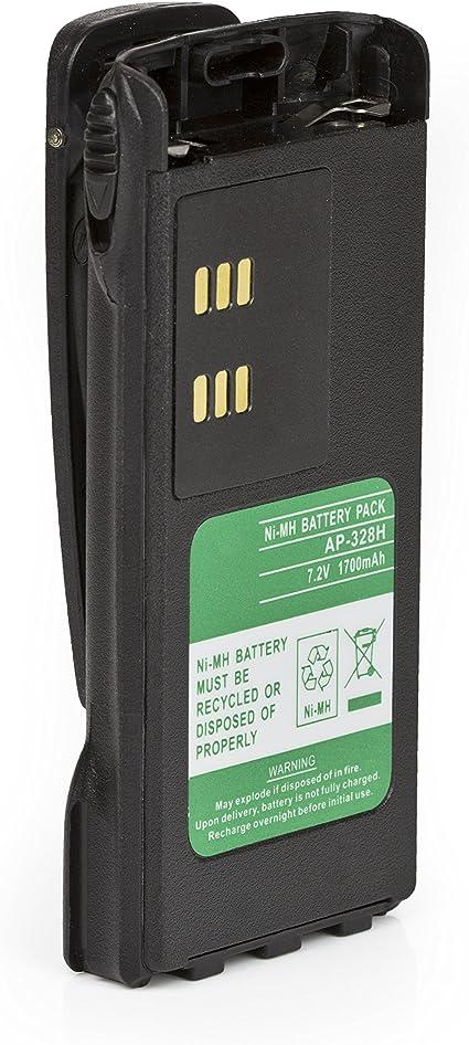 2 Pack HNN9013 HNN9013D 2100mAh Li-ion Battery Compatible for Motorola Radio HT750 HT1225 HT1250 HT1550 PR860 PRO5150 PRO7150 MTX850 MTX950 MTX8250 MTX9250 GP140 GP320 GP328 GP338 GP640 with Belt Clip