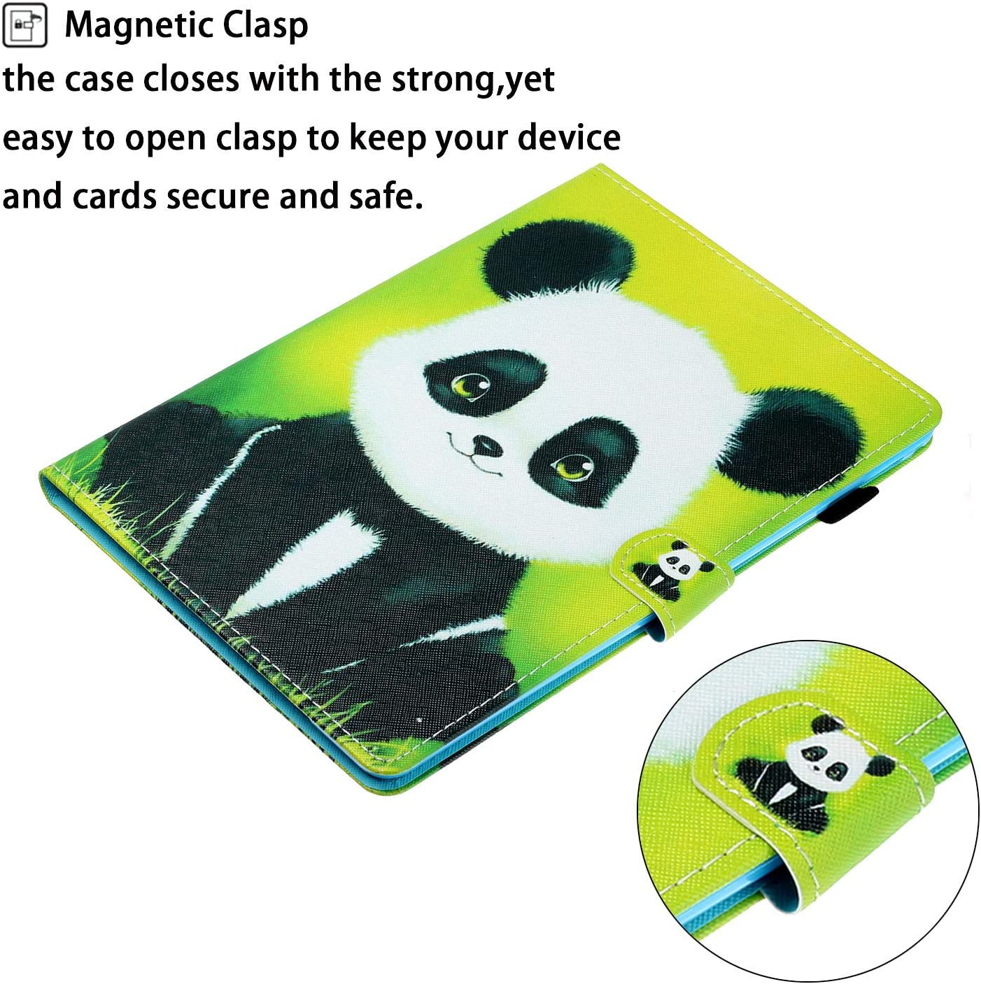 MOIKY Case for iPad Air1//iPad Air2//iPad 9.7 2017//2018 ,Multiple Angles Stand Flip Wallet Printed Smart Protective Shockproof Leather Case Cover for iPad 9.7 inch 5th//6th Generation,Green Butterflies