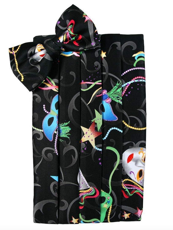 and Beads Cummerbund and Bow Tie Set Mardi Gras Masks Stars