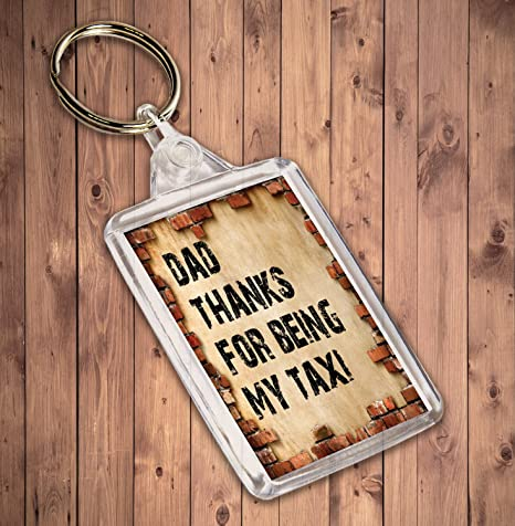 Diseño de ladrillo llavero divertido, grosero día del padre ...