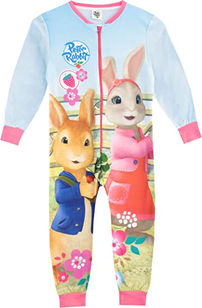 Peter Rabbit Girls Character Pyjamas Kids Nightwear 18 Months to 5 Years Blue