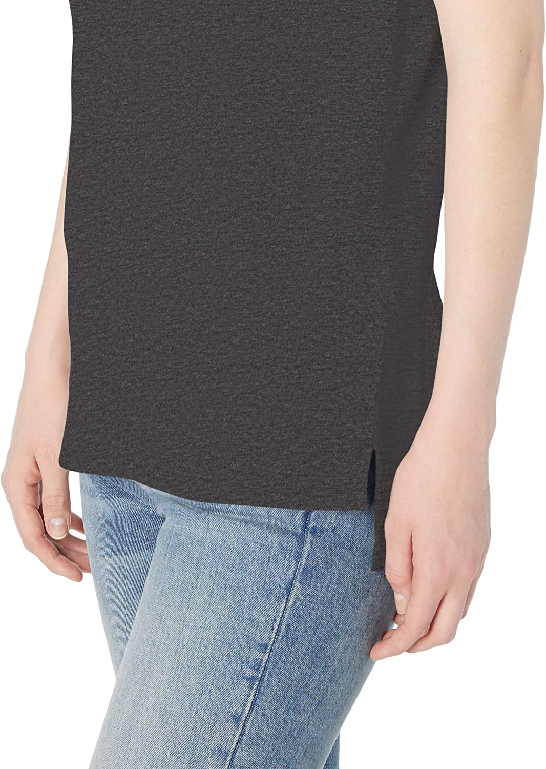 Daily Ritual Womens Lightweight Lived-In Cotton Short-Sleeve Drop-Shoulder Tunic