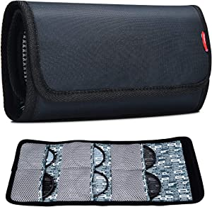 Filter Case, CADeN 6 Pocket Camera Lens Filter Pouch Bag for 25mm-77mm Filters Waterproof