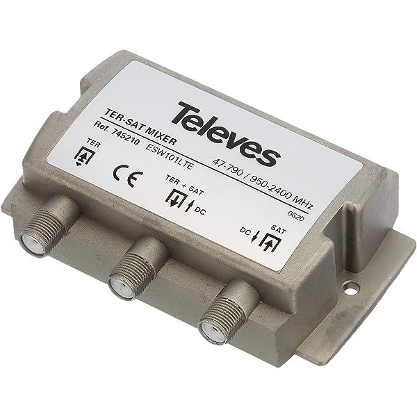 Televes 745210 - Mezclador matv-fi 2e/1s-f dc: Amazon.es ...