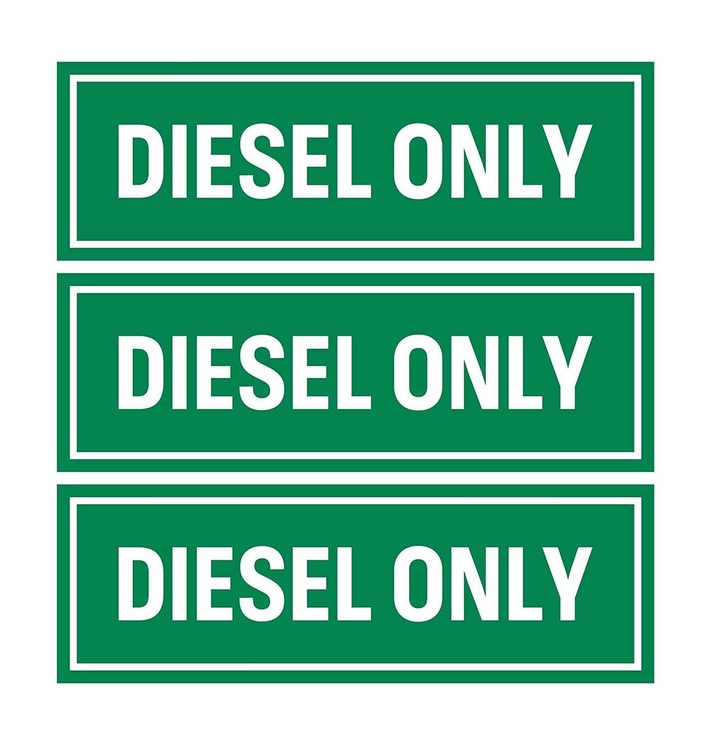 Machinery and Equipment Diesel Only Sticker Sign | Adhesive Fuel Decal for Trucks Tractors Pack of 3
